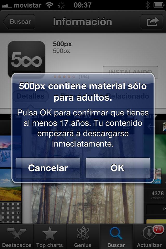 500px vuelve a la App Store