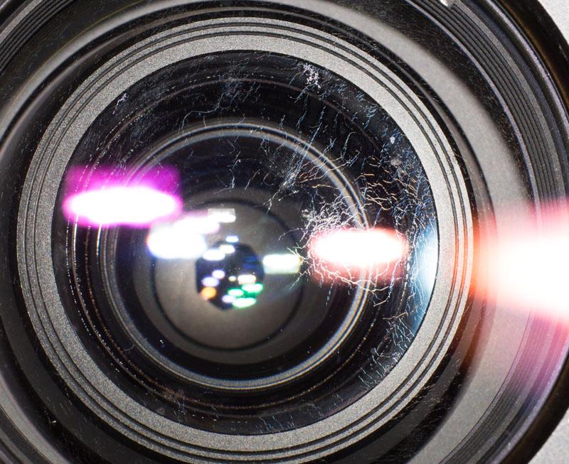 hongos en una lente