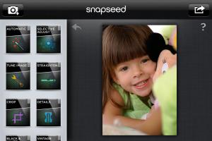 Snapseed interfaz
