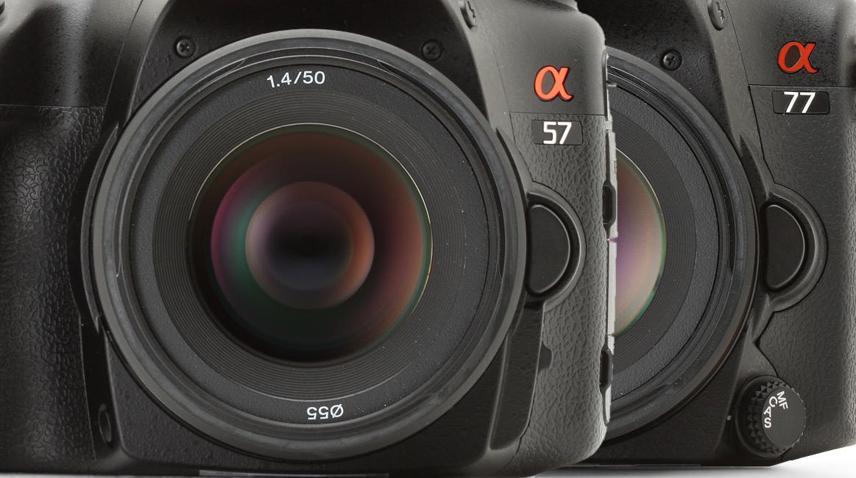 Sony a57 vs. a77