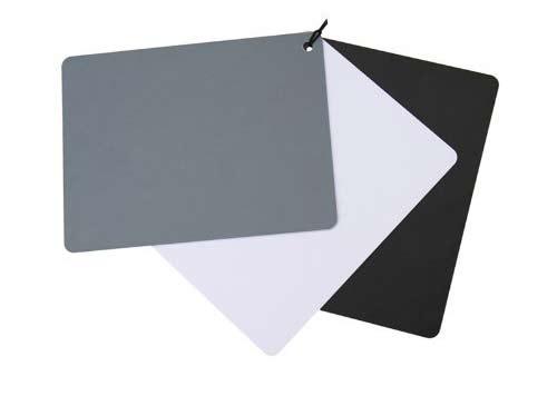 una carta de grises nos permite hacer un balance de blancos correcto